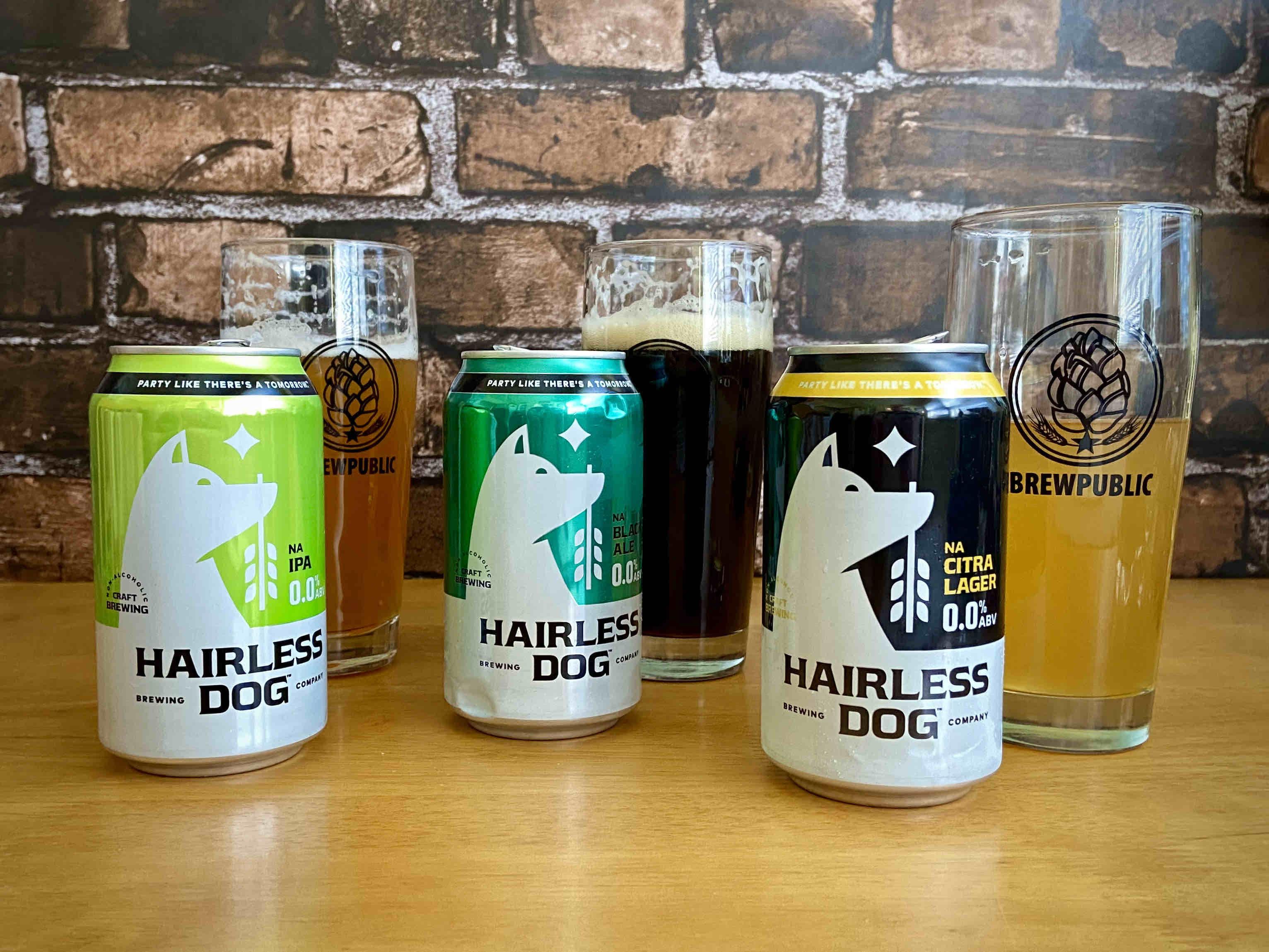 Hairless Dog Brewing has released a lineup of 0.0% ABV beers that includes Citra Lager, IPA, and Black Ale.