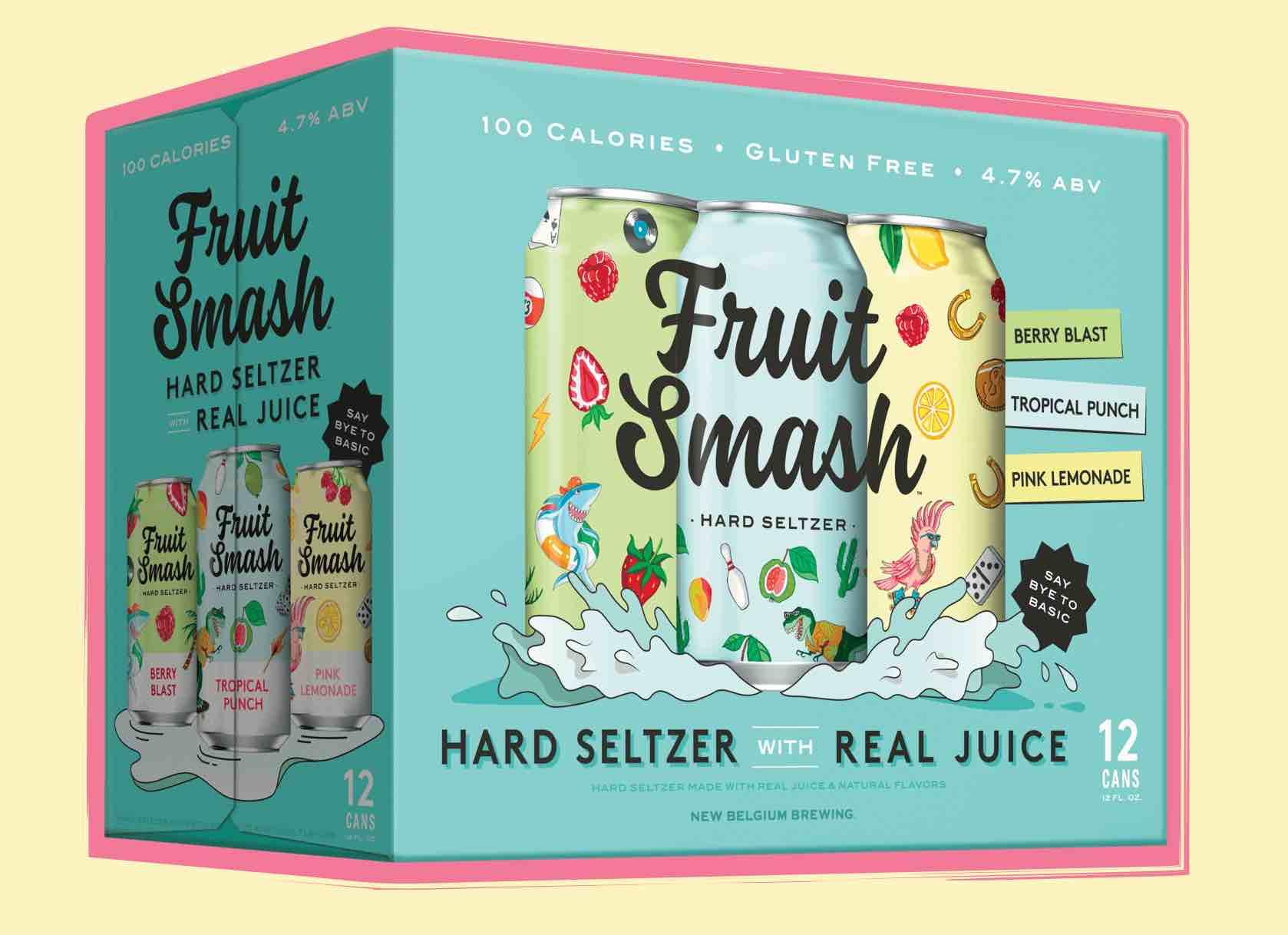 New Belgium Brewing Fruit Smash Hard Seltzer Variety Pack