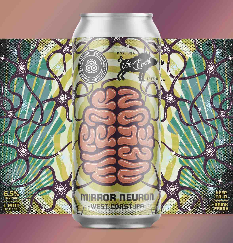 Oakshire and Von Ebert Collaborate on Mirror Neuron IPA Label