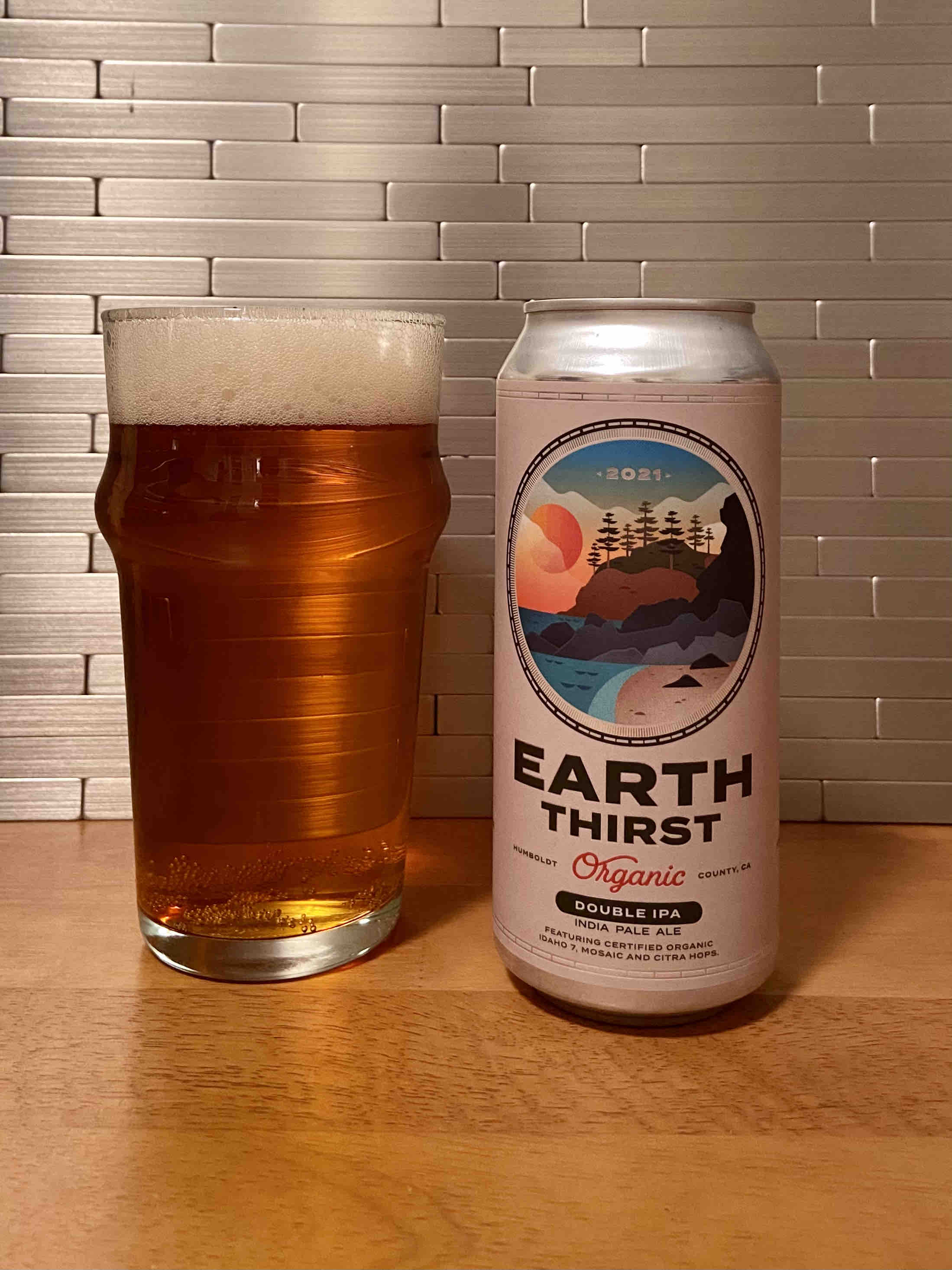 Raise a pint of Earth Thirst Organic Double IPA from Eel River Brewing on Earth Day 2021!