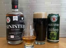 Sinister Malt Whiskey from Left Hand Brewing and Foundry Distilling Co. is made from Left Hand Milk Stout wash.