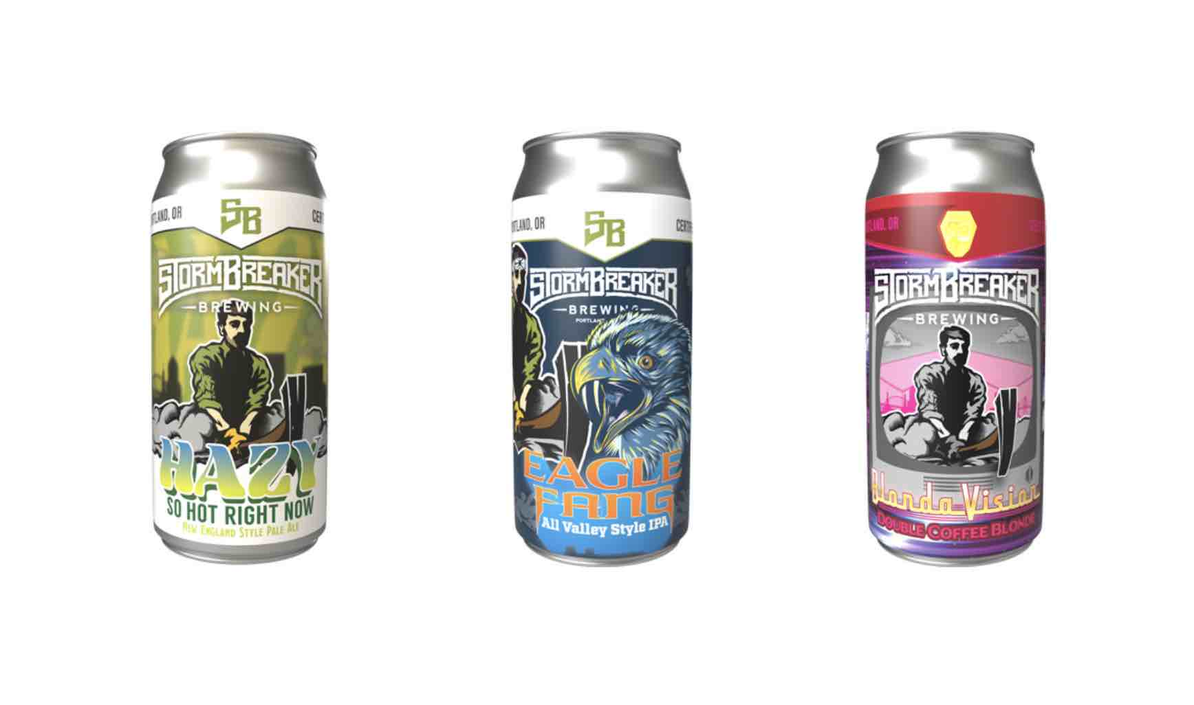 StormBreaker Brewing Releases Hazy So Hot Right Now, Eagle Fang!, and BlondaVision