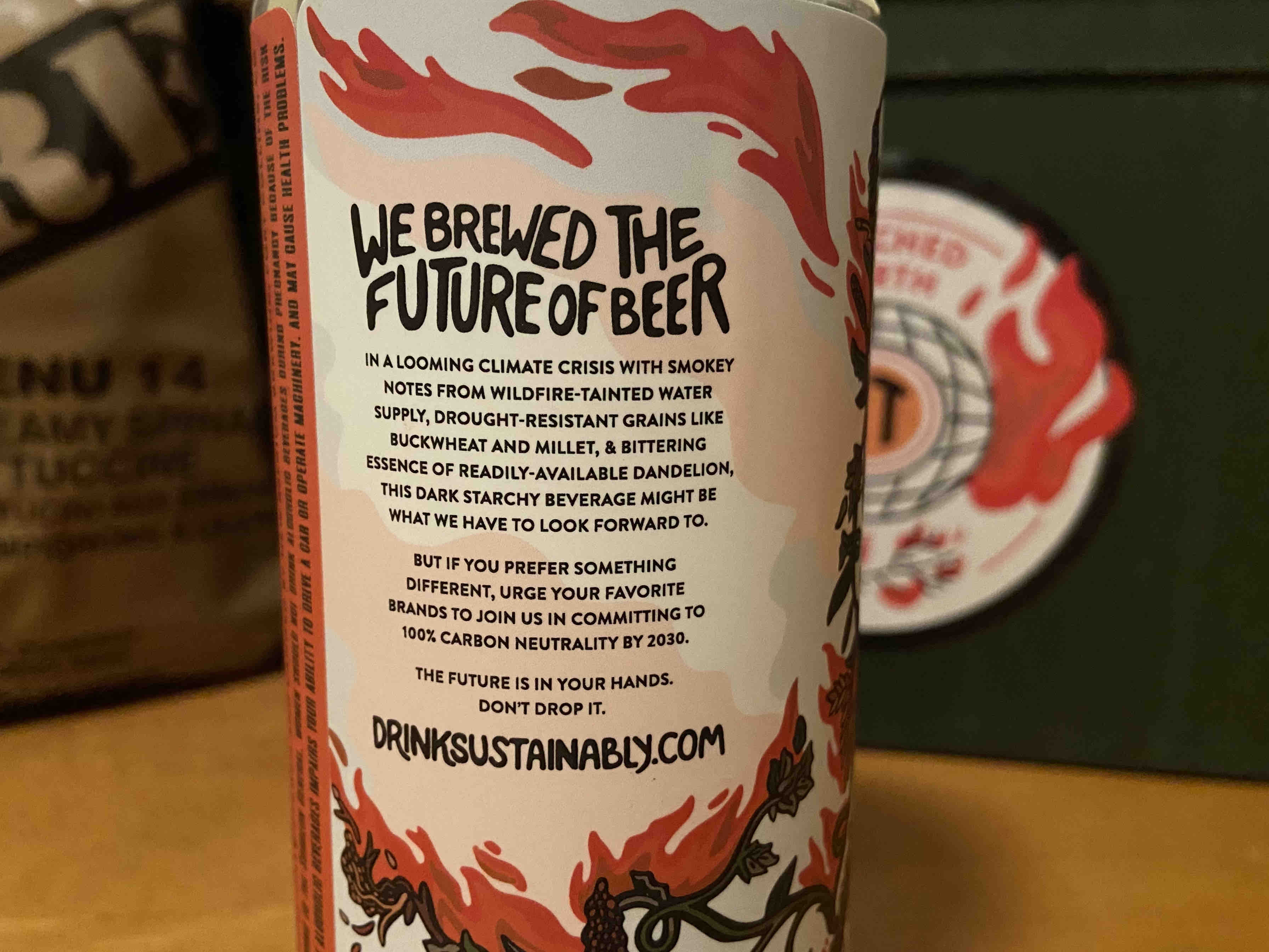 The label on New Belgium Brewing Torched Earth Ale.