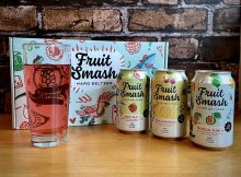 The lineup of Fruit Smash, a new hard seltzer from New Belgium Brewing.