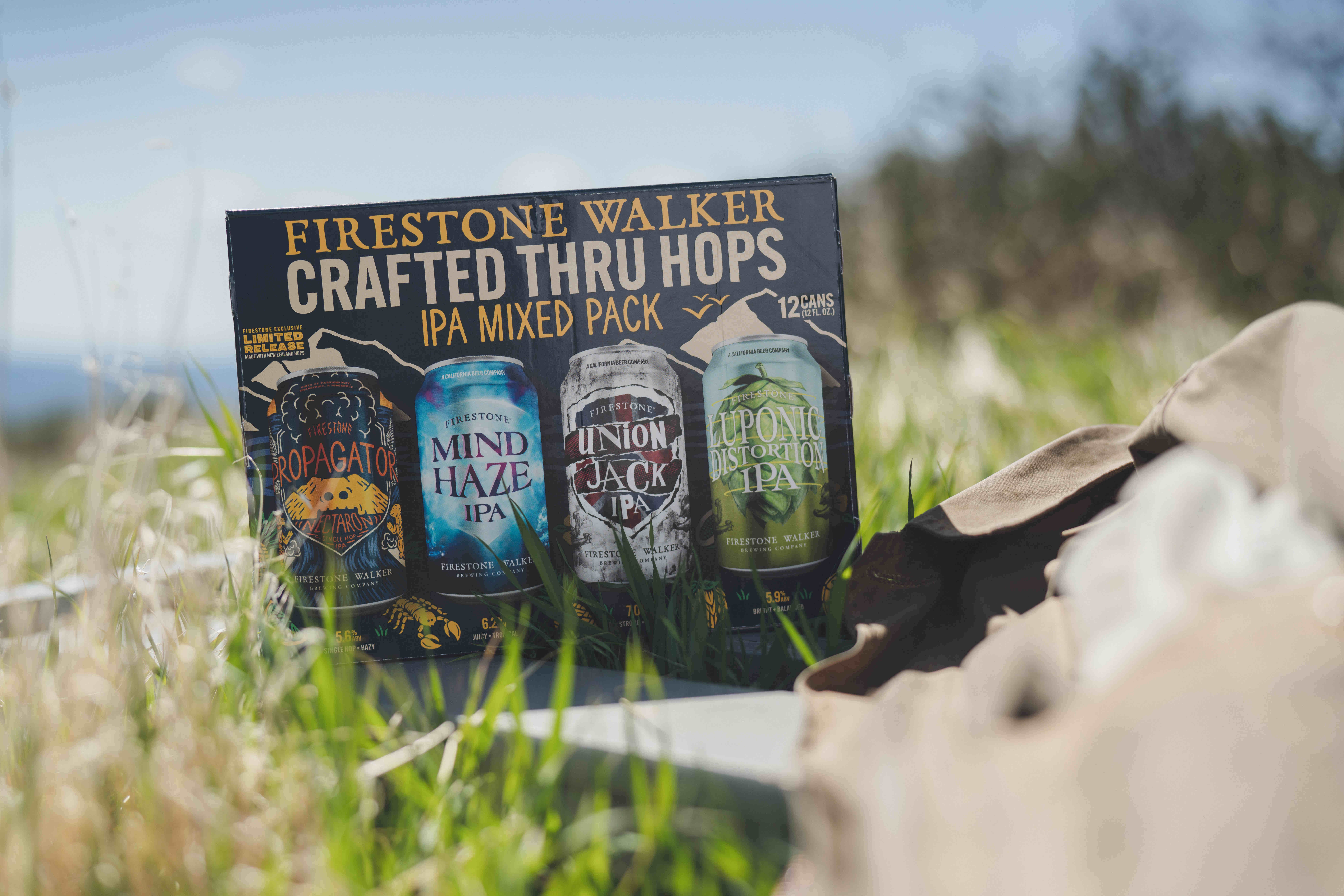 image of Crafted Thru Hops Mixed IPA Pack featuring Nectaron Single-Hop Hazy IPA courtesy of Firestone Walker Brewing