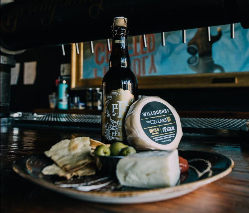 image of Jasper Hill Farm Willoughby Cheese Washed with pFriem Bretta III courtesy of pFriem Family Brewers