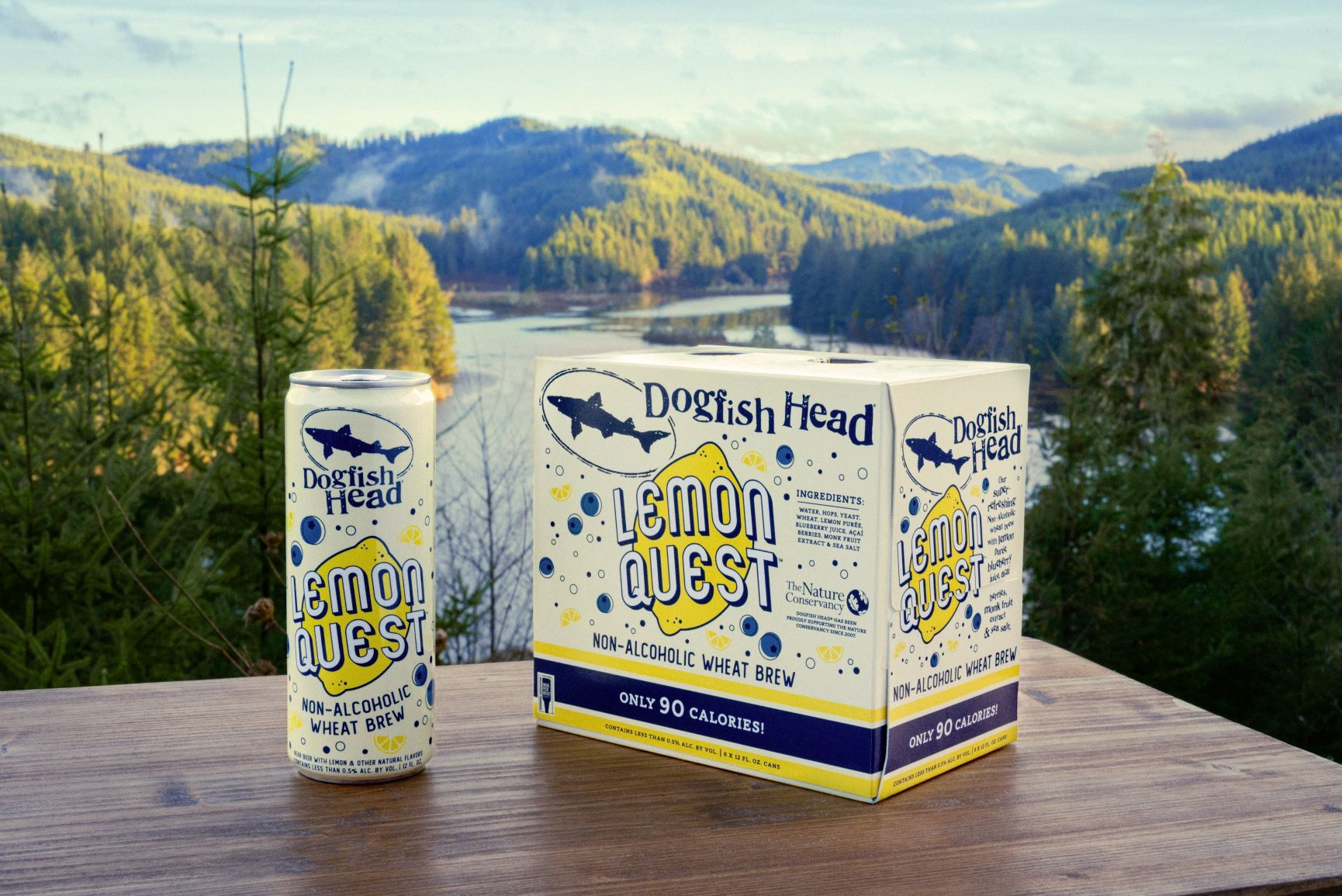 image of Lemon Quest Non-Alcoholic Wheat Brew courtesy of Dogfish Head Craft Brewery