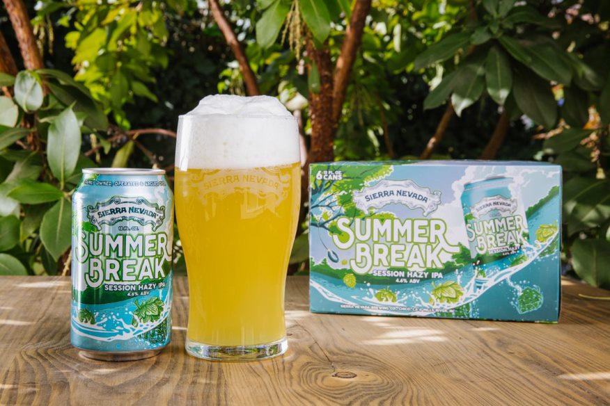 image of Summer Break Session Hazy IPA courtesy of Sierra Nevada Brewing