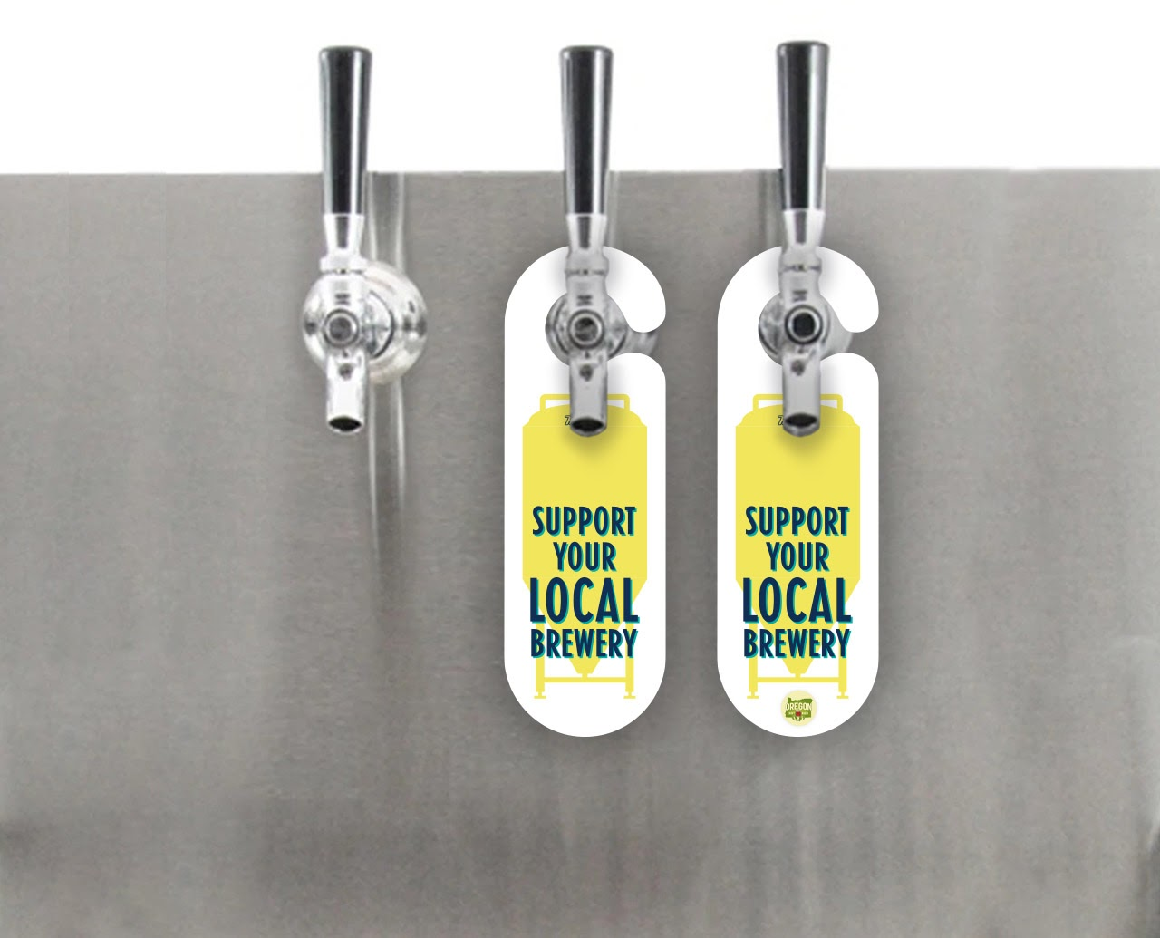 image of Support Your Local Brewery Tap Hanger courtesy of Hoptown Handles