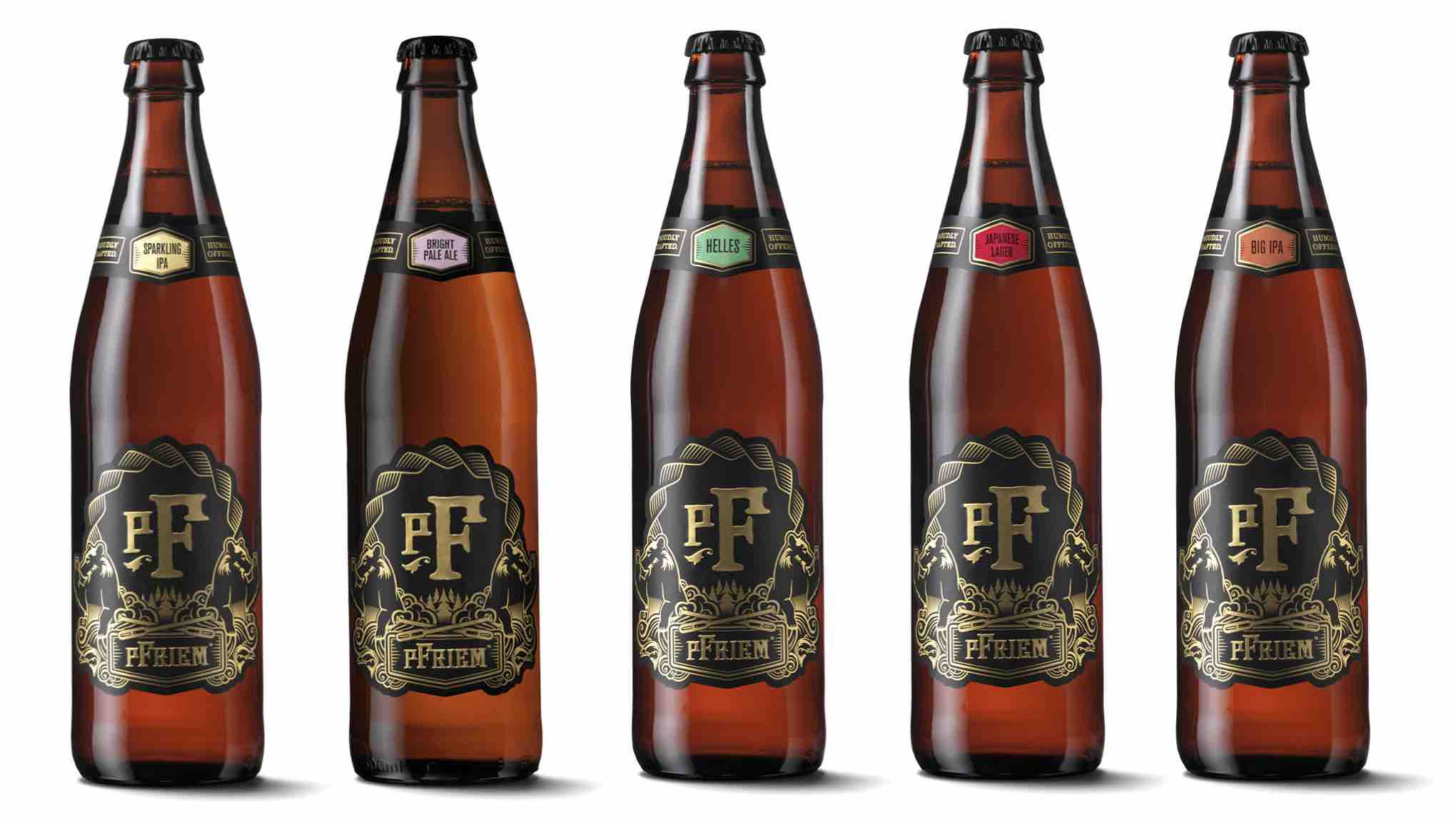 pFriem Family Brewers Spring 2021 Beer Releases - Sparkling IPA, Bright Pale Ale, Helles Lager, Japanese Lager, and Big IPA