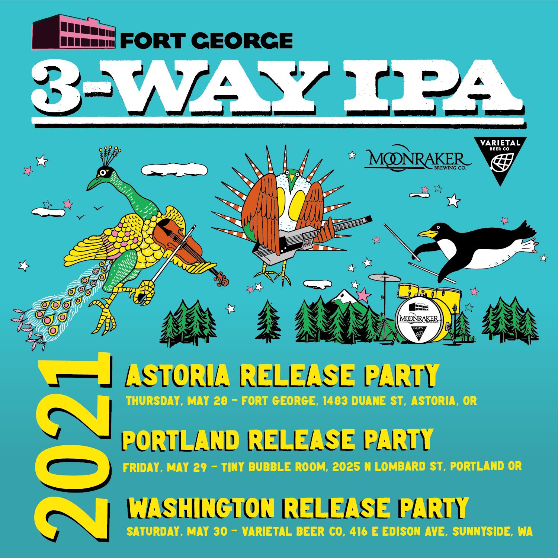 2021 3-Way IPA Release Parties