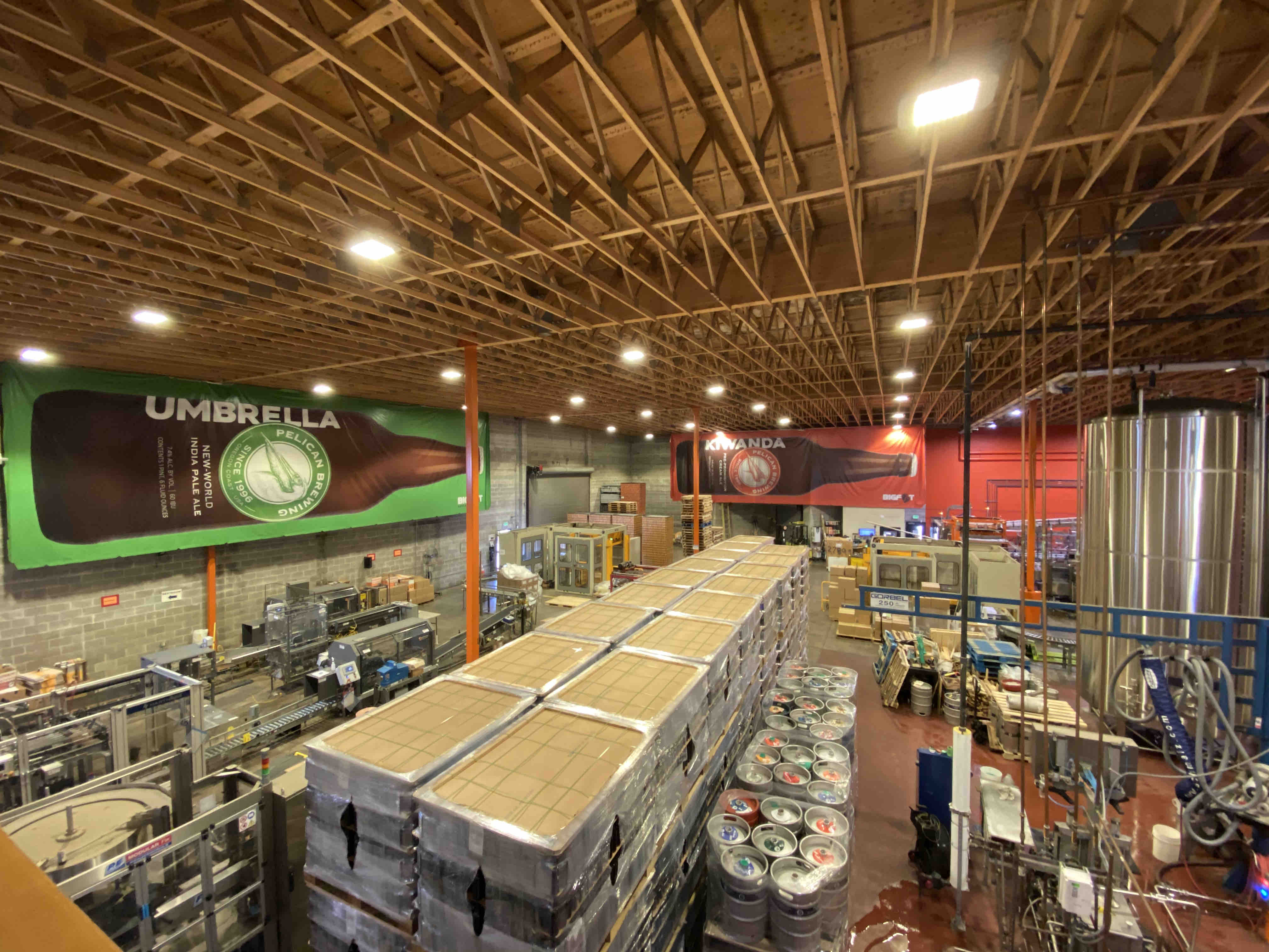 A look at the packaging room at Pelican Brewing in Tillamook, Oregon.