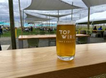 A pint at TopWIre Hop Project in Woodburn, Oregon.