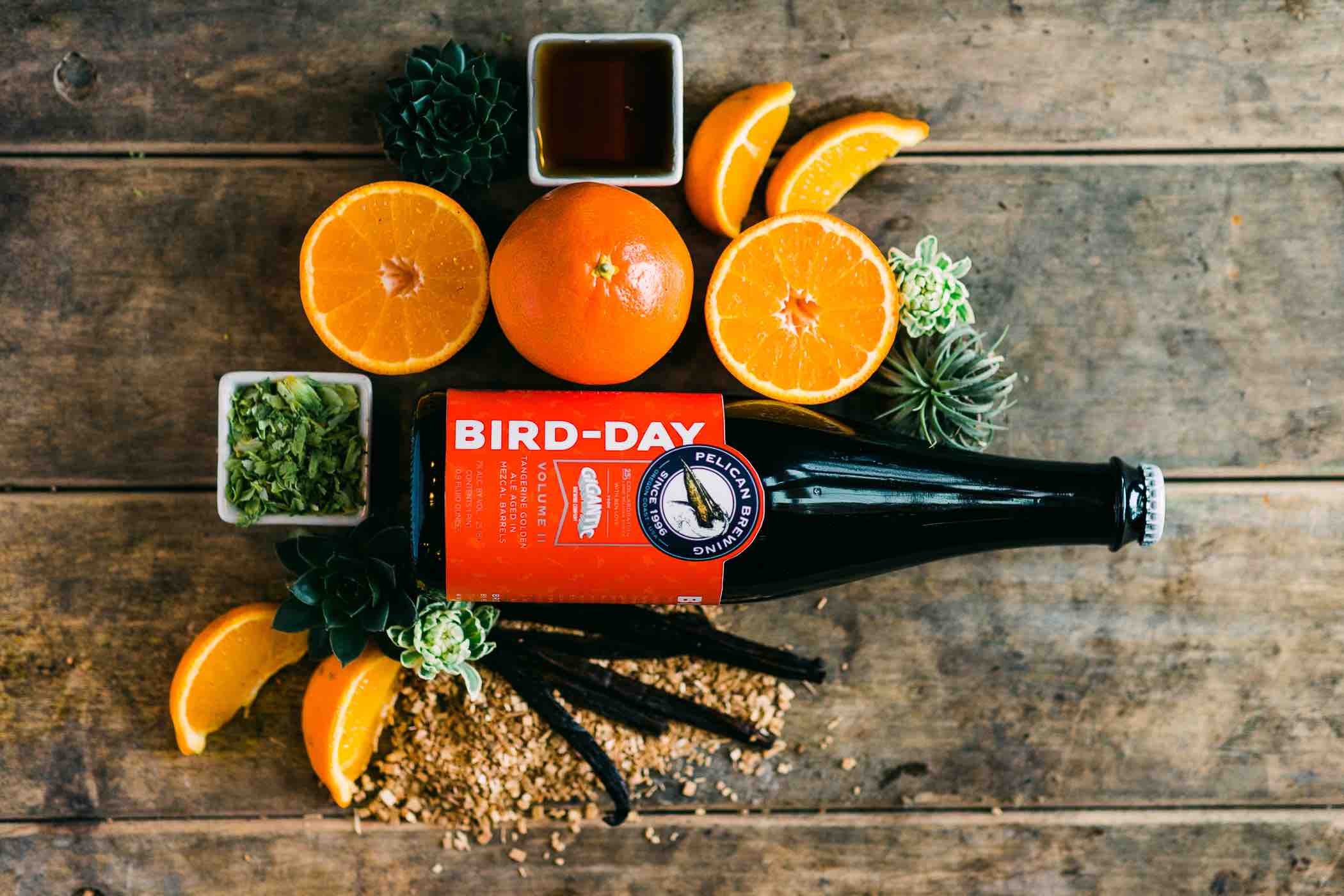 Pelican Brewing Bird-Day Volume II is a colaboration with Ben Love of Gigantic Brewing. (image courtesy of Pelican Brewing)