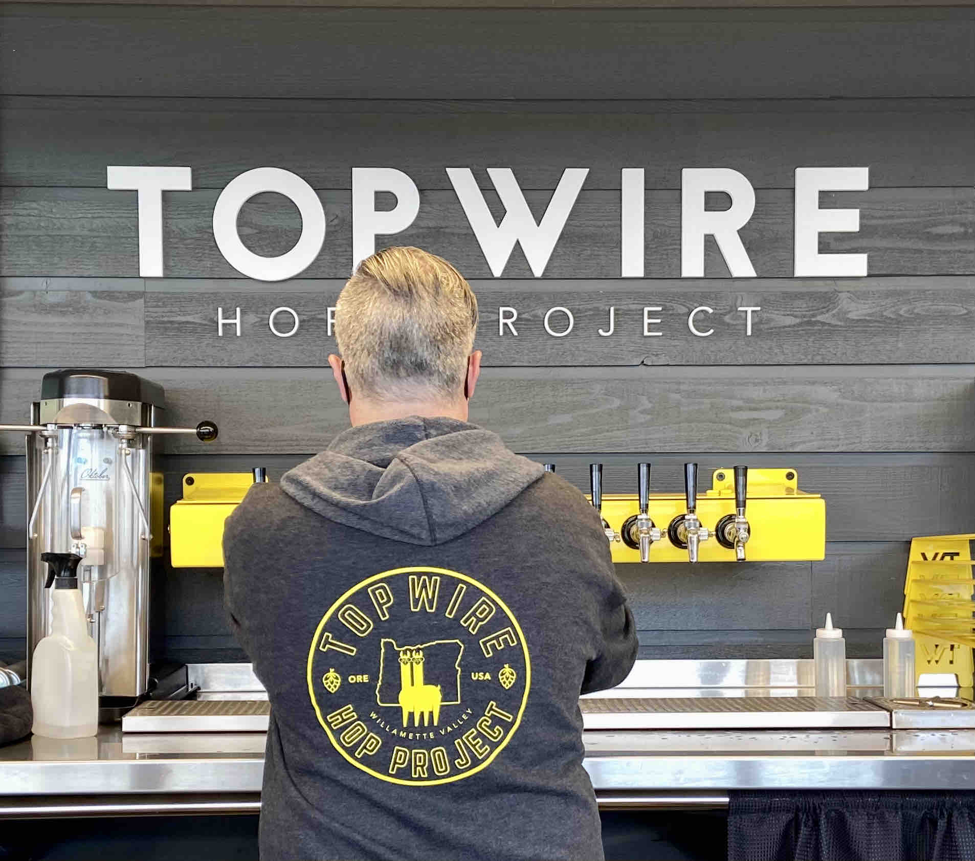 The taps at TopWIre Hop Project.