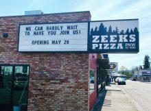 Zeeks Pizza to open in Bellingham, Washington. (image courtesy of Zeeks Pizza - Bellingham)