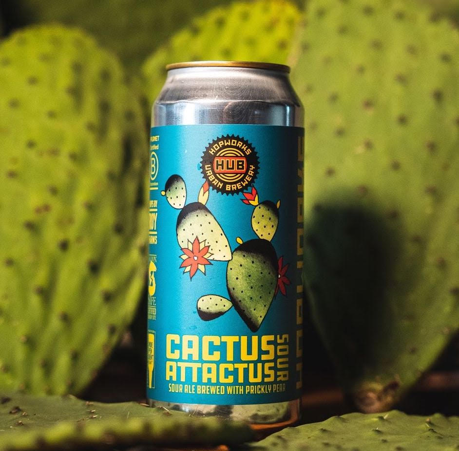 image of Cactus Attactus Prickly Pear Sour courtesy of Hopworks Urban Brewery