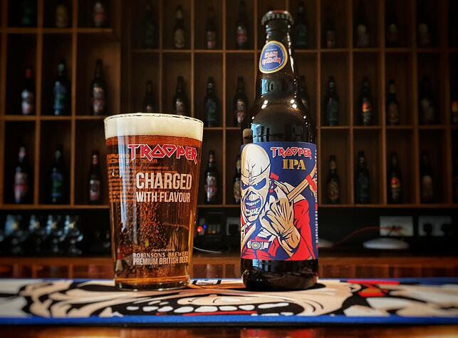 image of Iron Maiden and Robinsons Brewery TROOPER IPA courtesy of Artisanal Imports