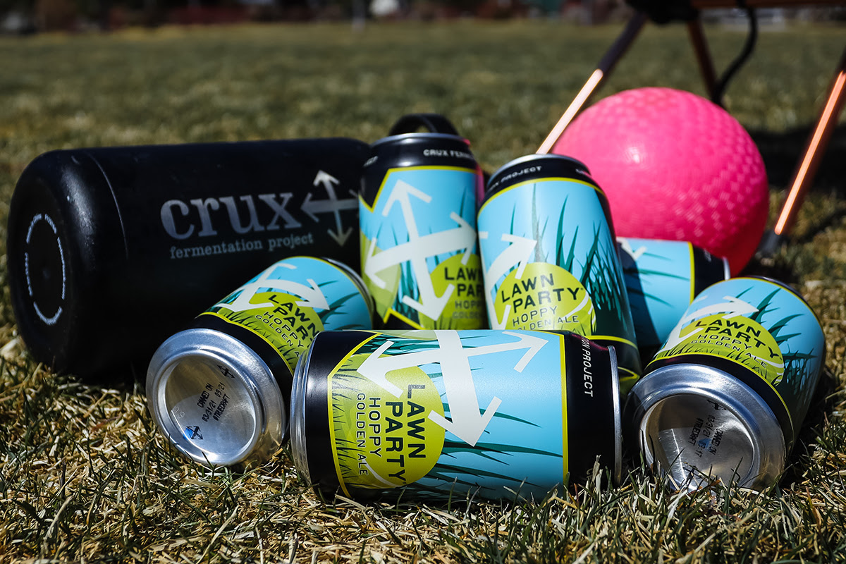 image of Lawn Party Hoppy Golden Ale courtesy of Crux Fermentation Project