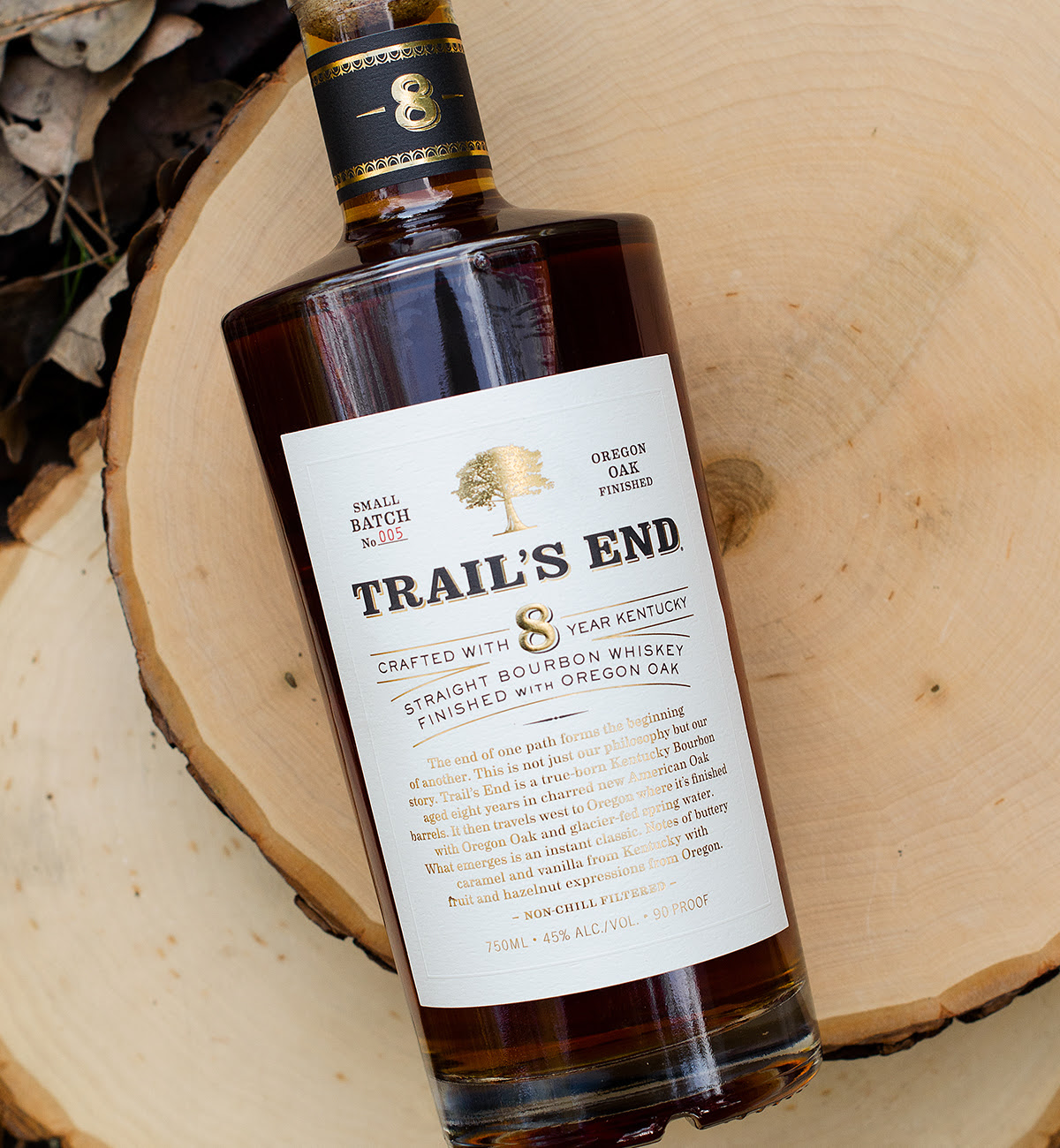 image of Trail's End Whiskey courtesy of Hood River Distiller