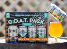 Ninkasi Brewing releases Hazematic Hazy IPA in The G.O.A.T. Pack. (image courtesy of Ninkasi Brewing)
