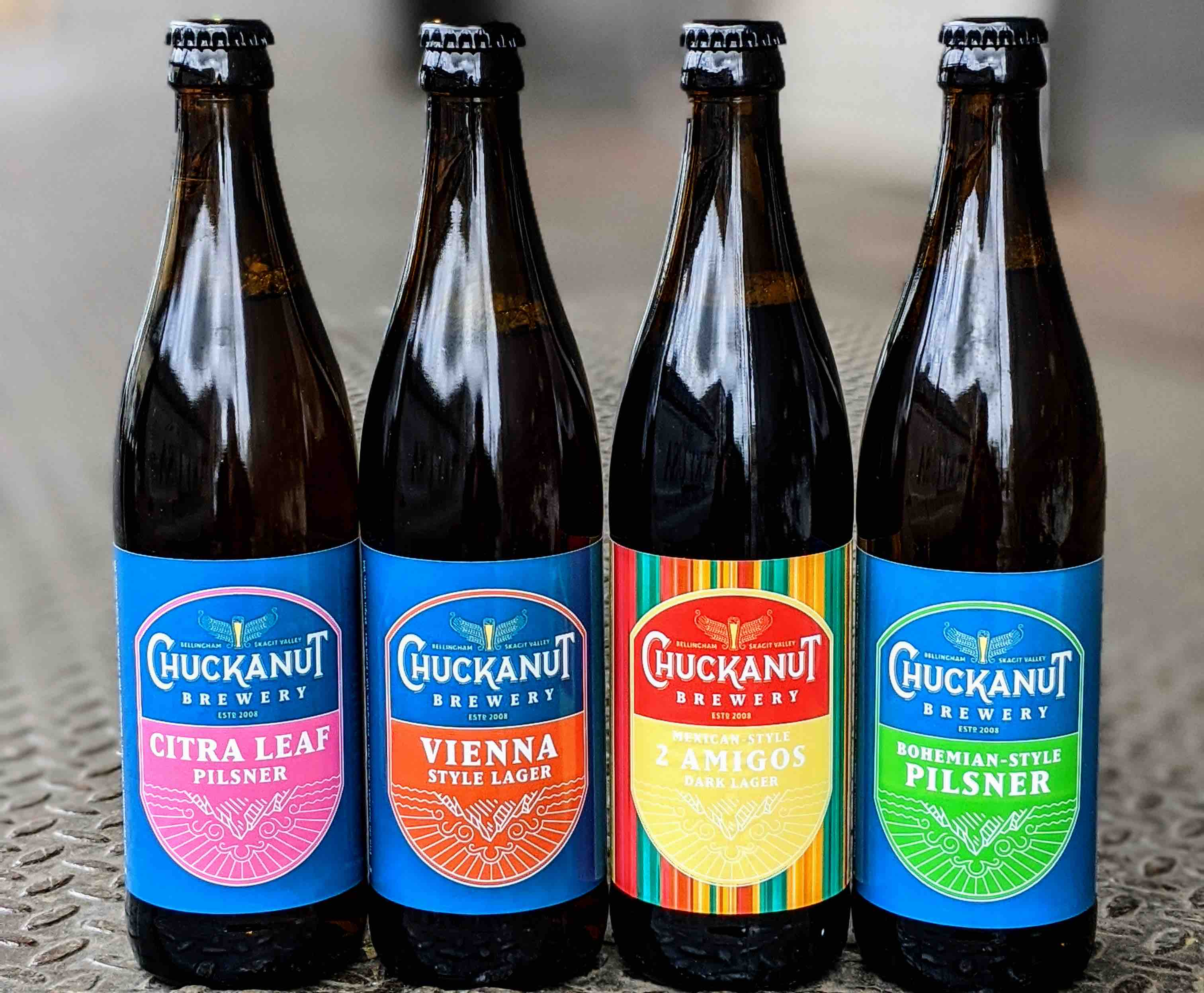 image of Chuckanut Brewery bottles courtesy of Day One Distribution