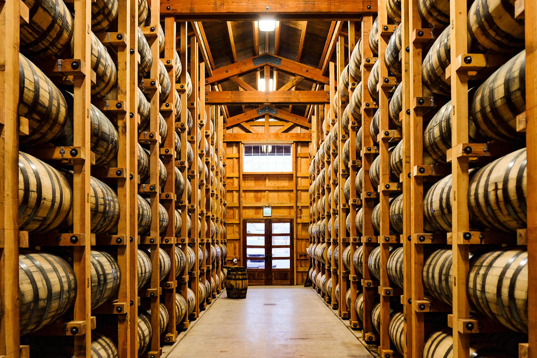 image of barrel aging away courtesy of Frey Ranch.