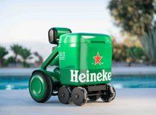 image of the Heineken Beer Outdoor Transporter courtesy of Heineken