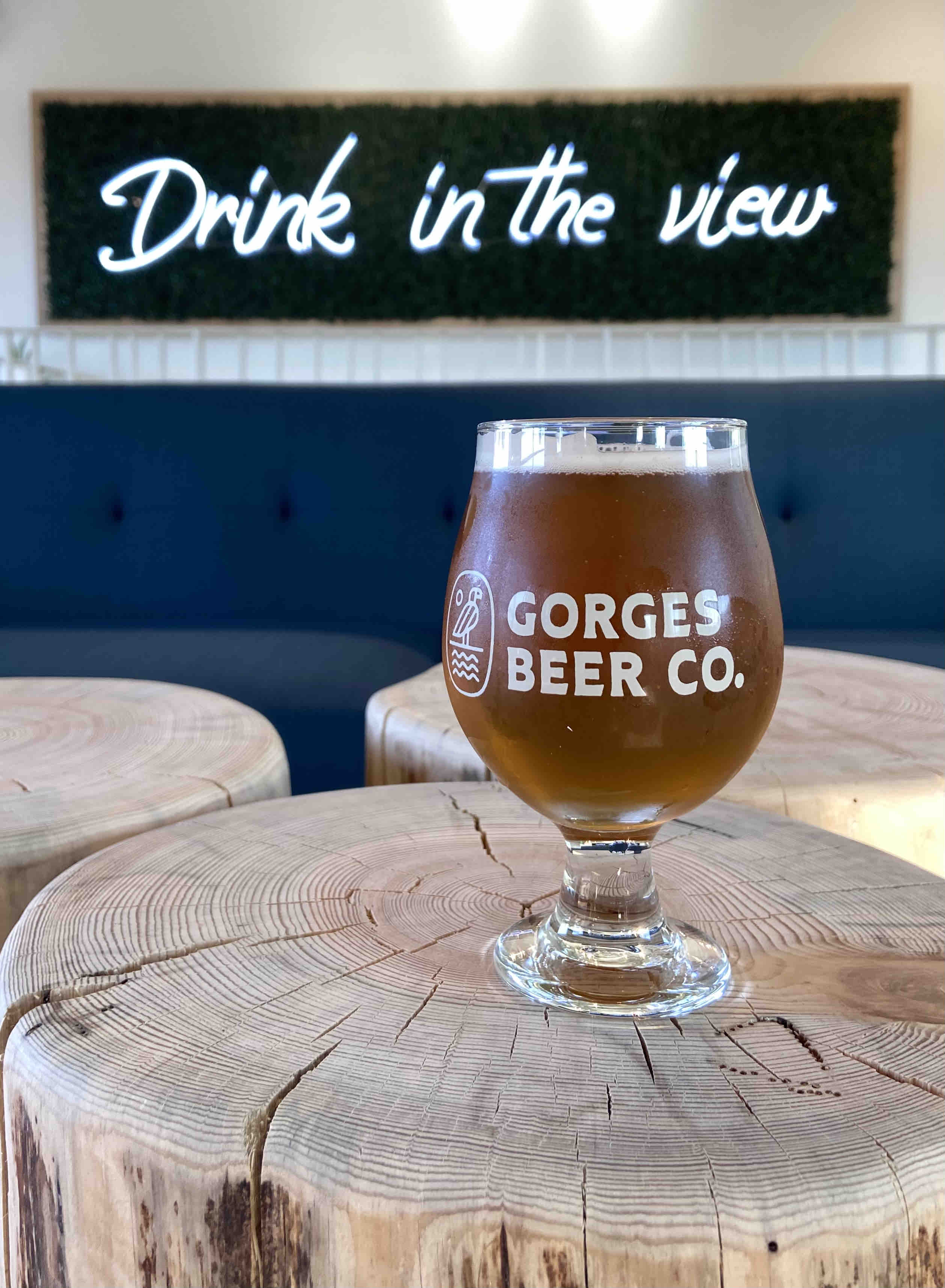 Drink in the view at Gorges Beer Co.