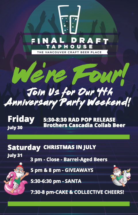 Final Draft Taphouse 4th Anniversary