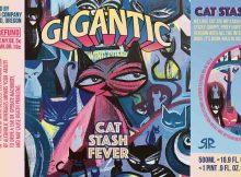 Gigantic Brewing Cat Stash Fever Label by Rob Reger