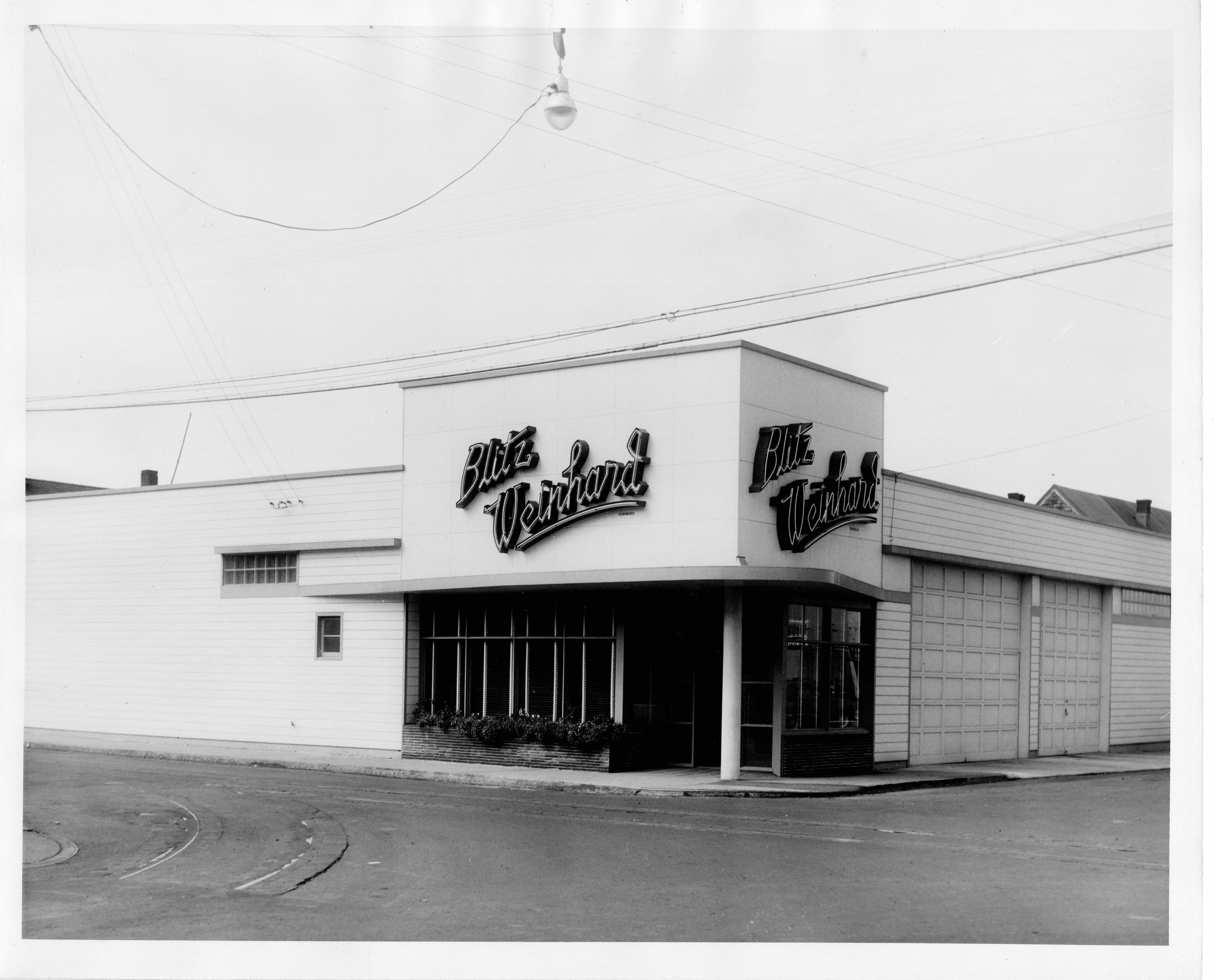Obelisk Beer Co. will be home in the building that began its life as a Blitz-Weinhard Brewing Co. distributor in the 1940s. (Photo courtesy Lower Columbia Preservation Society)