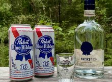 Pabst Blue Ribbon Whiskey is a white dog whiskey that's perfect for certain cocktails or adding to a Tallboy of PBR to create a Boilermaker.