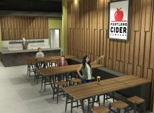 Portland Cider Co. Westside Pub entrance renderings by Steelhead Architecture