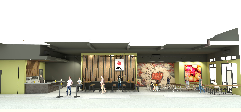 Portland Cider Co. Westside Pub renderings by Steelhead Architecture