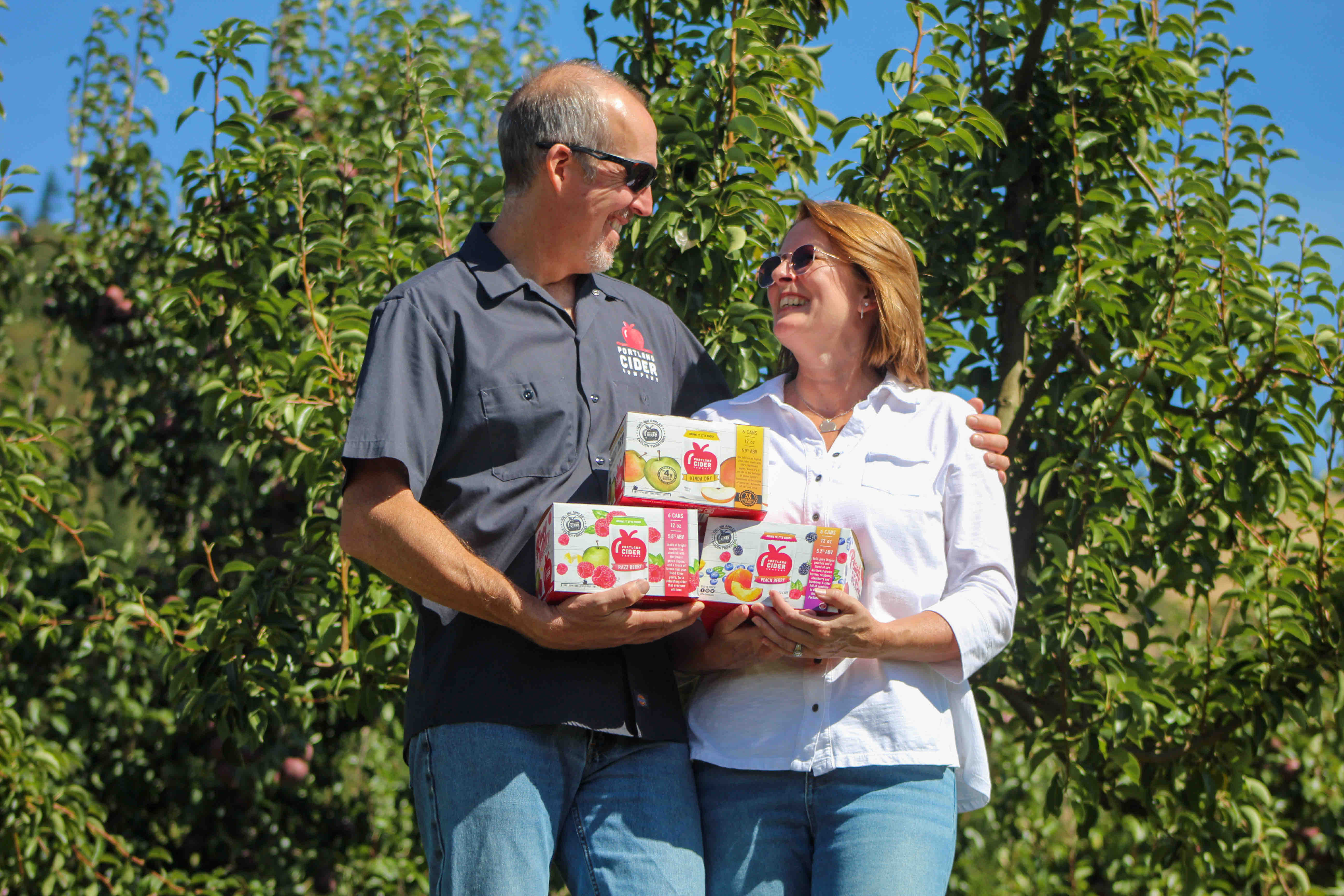 Portland Cider Co. owners Jeff and Lynda Parrish. (image courtesy of Portland Cider Co.)
