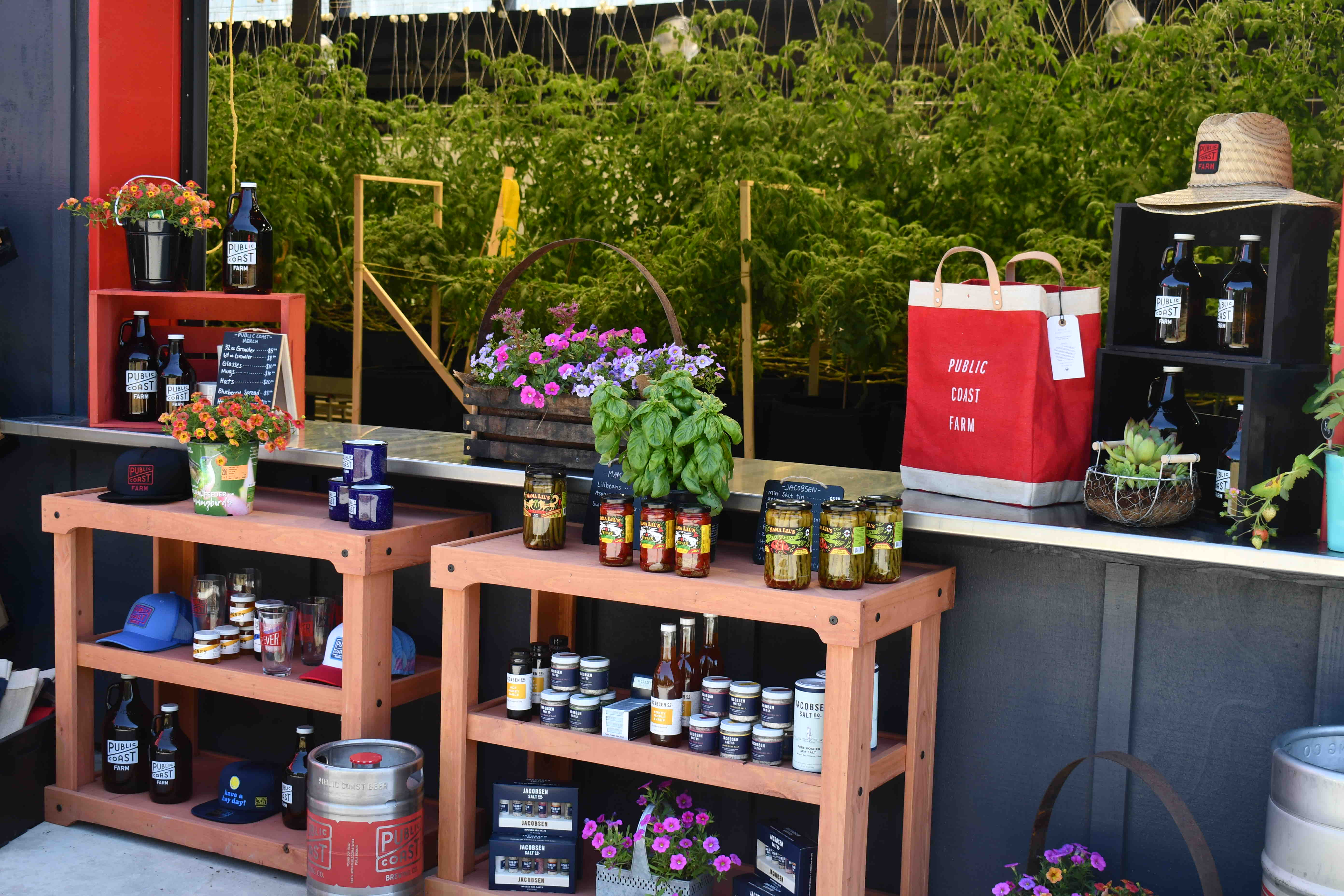 Public Coast Farm offers a stand that is full of fresh items, includeing beers from the award winning Public Coast Brewing. (image courtesy of Public Coast Brewing)