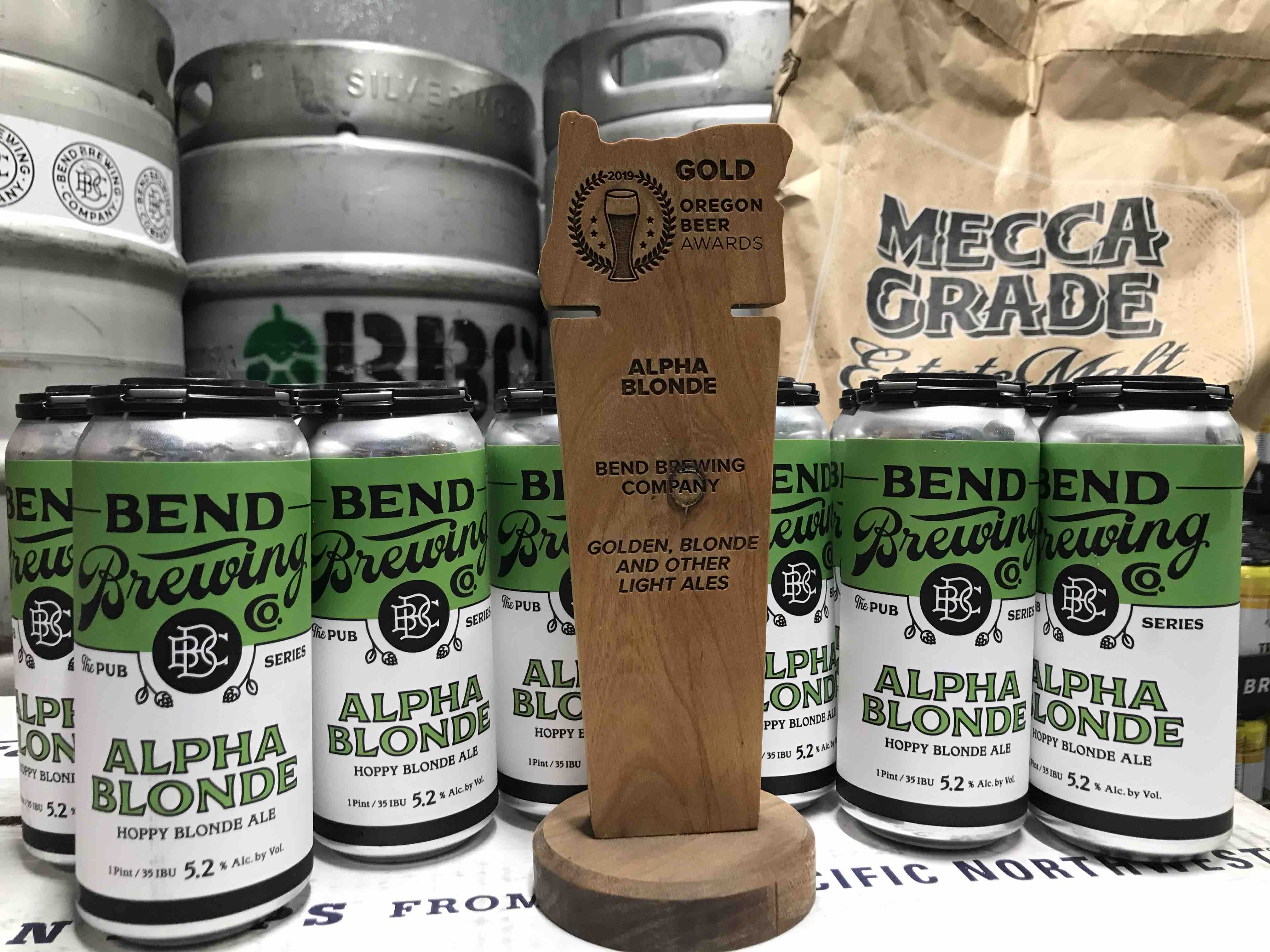 image of Alpha Blonde courtesy of Bend Brewing Co.