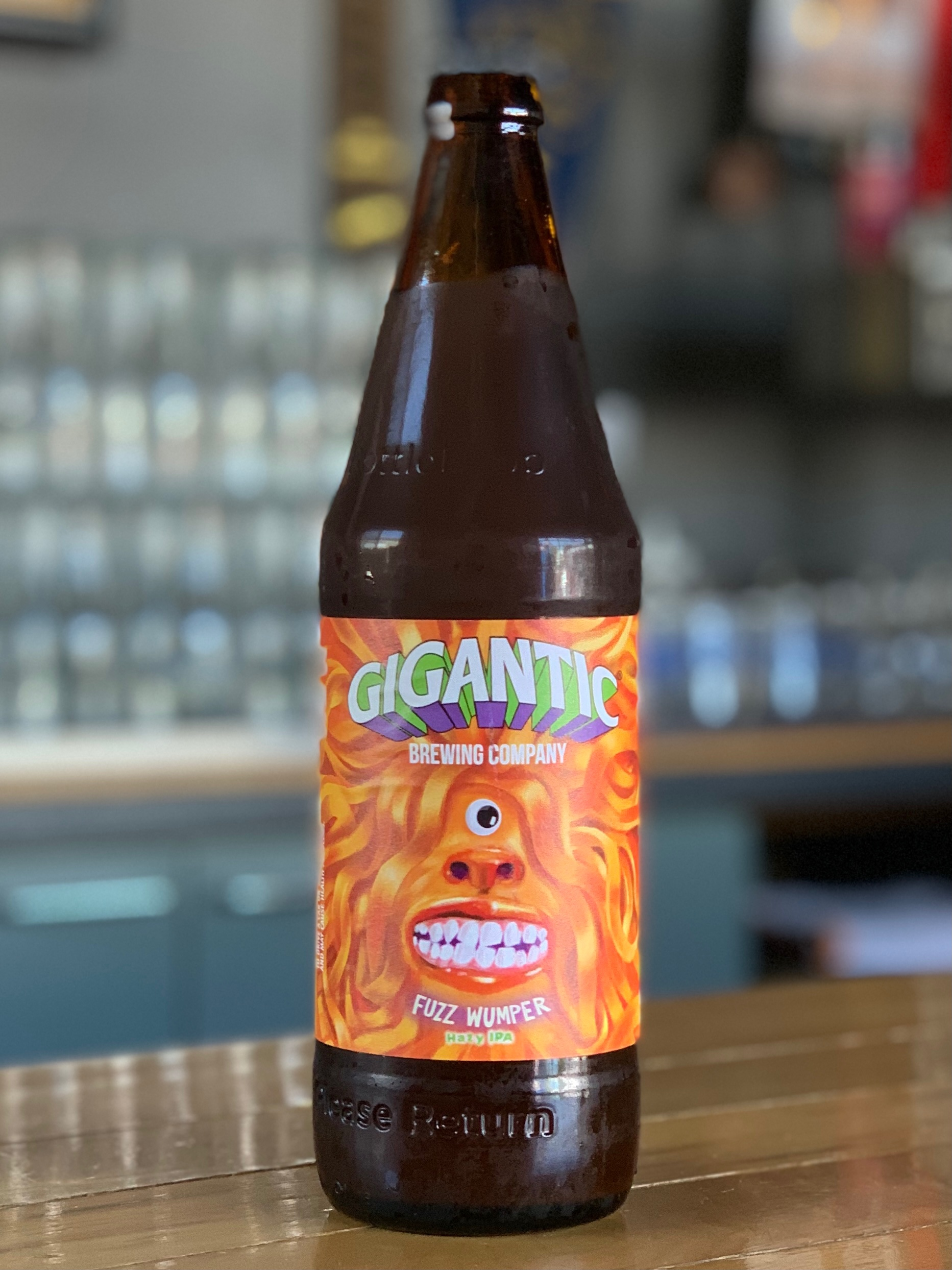 image of Fuzz Wumper Hazy IPA courtesy of Gigantic Brewing
