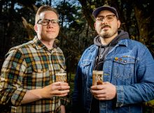 image of Nathan Lampson and Dave Coyne courtesy of Obelisk Beer Co.