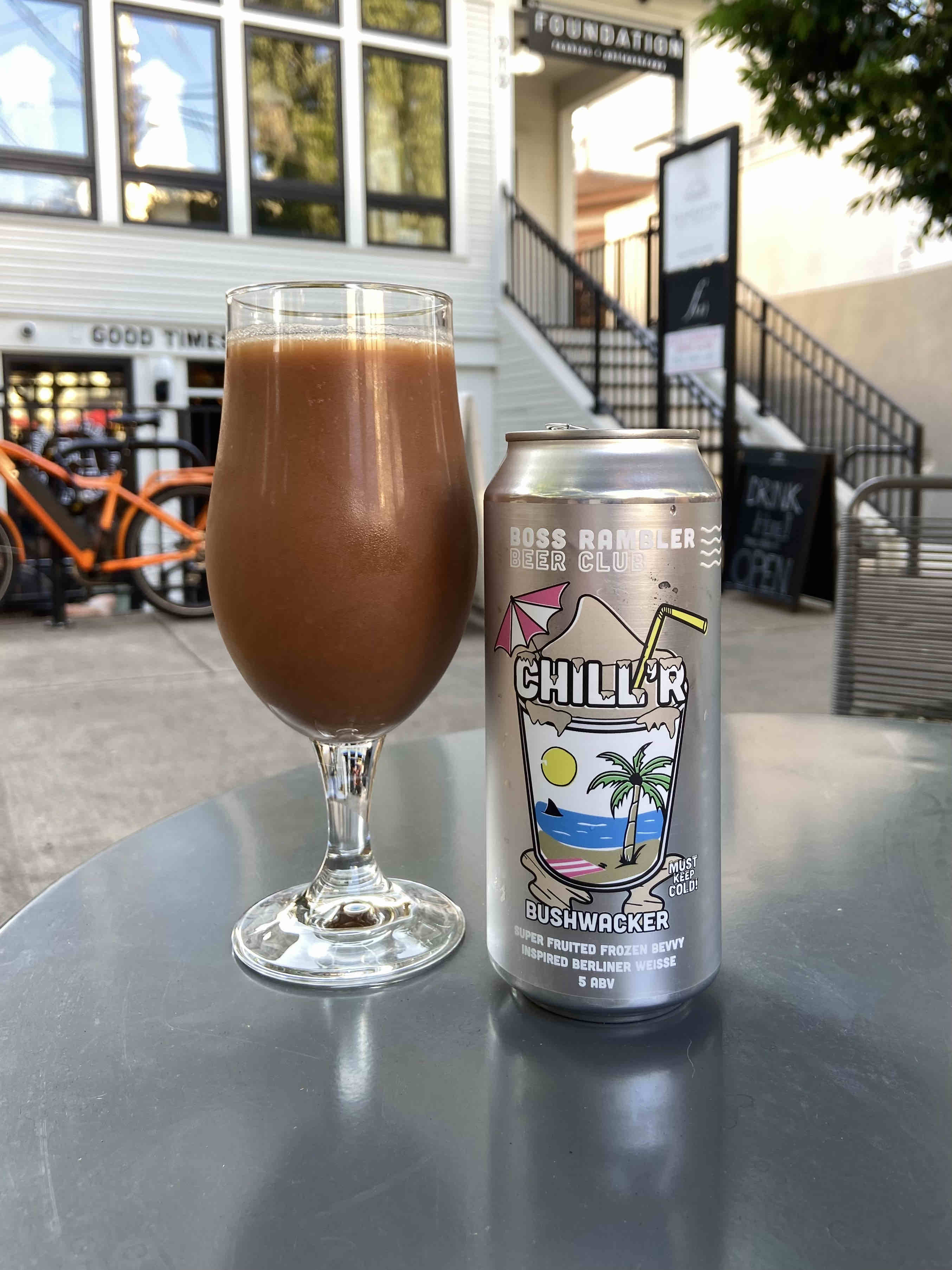 Chill'r Bushwacker from Boss Rambler Beer Club is a take on the popular frozen cocktail that's popular in the deep south.