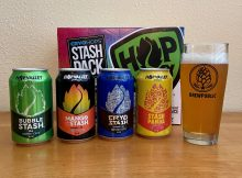 Hop Valley Brewing offers up the Cryo Hops Stash Pack that features Bubble Stash, Cryo Stash, Mango Stash. and the Mystery Stash that's currently Stash Panda.