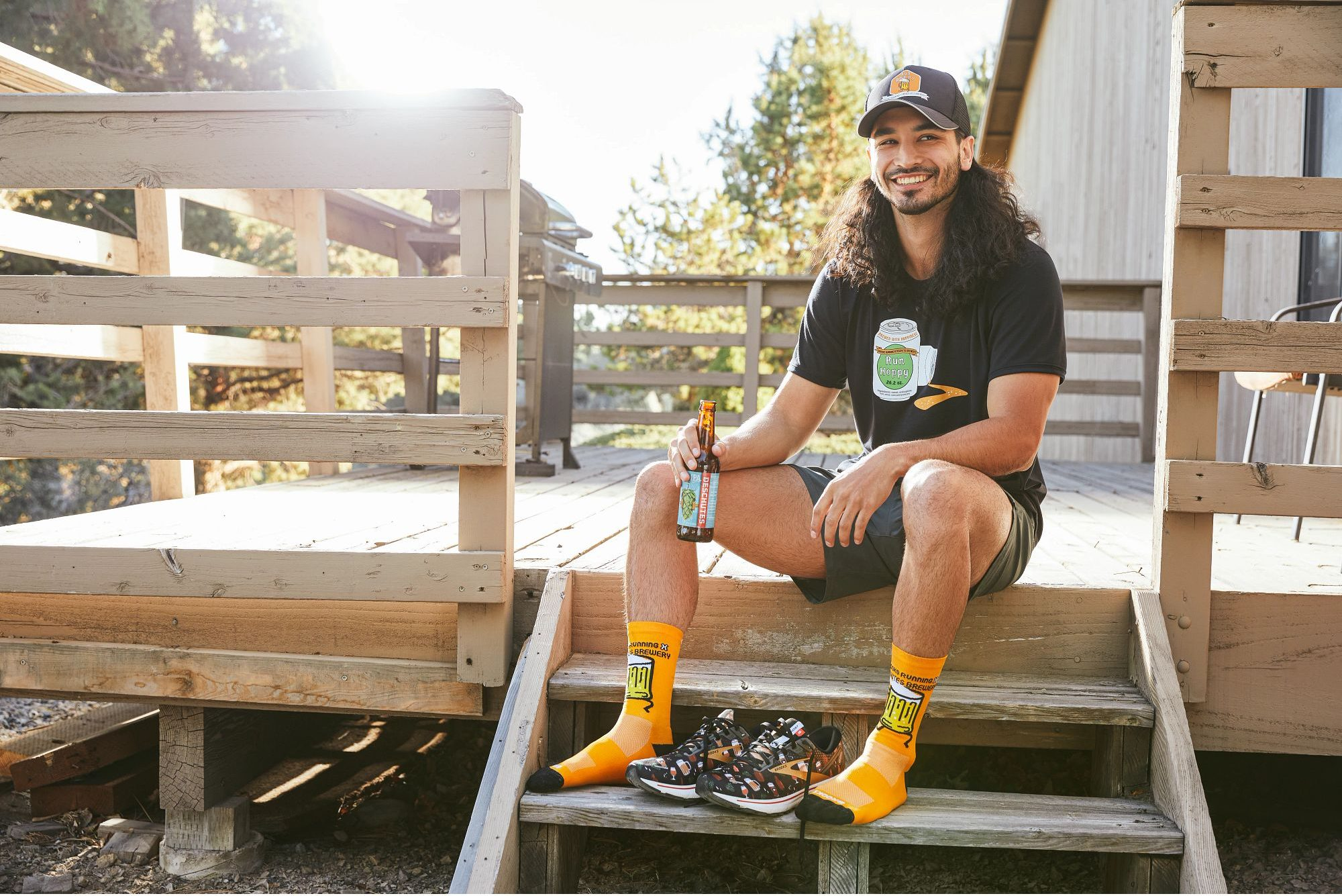 Some of the Deschutes Brewery and Brooks Running Deschutes themed Run Hoppy apparel. (image courtesy of Brooks Running)