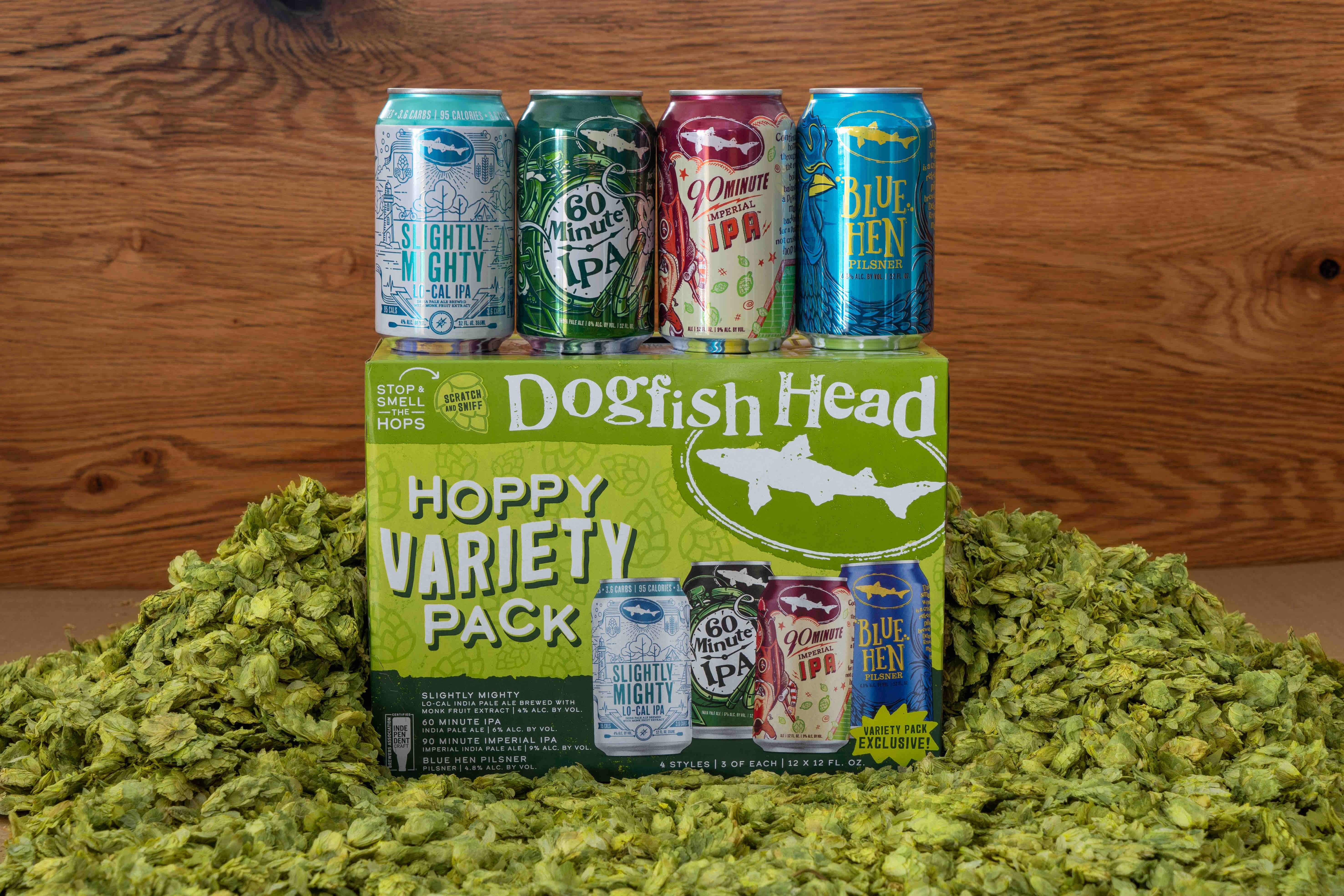 image of Dogfish Head Craft Brewery Hoppy Variety Pack courtesy of Dogfish Head Craft Brewery