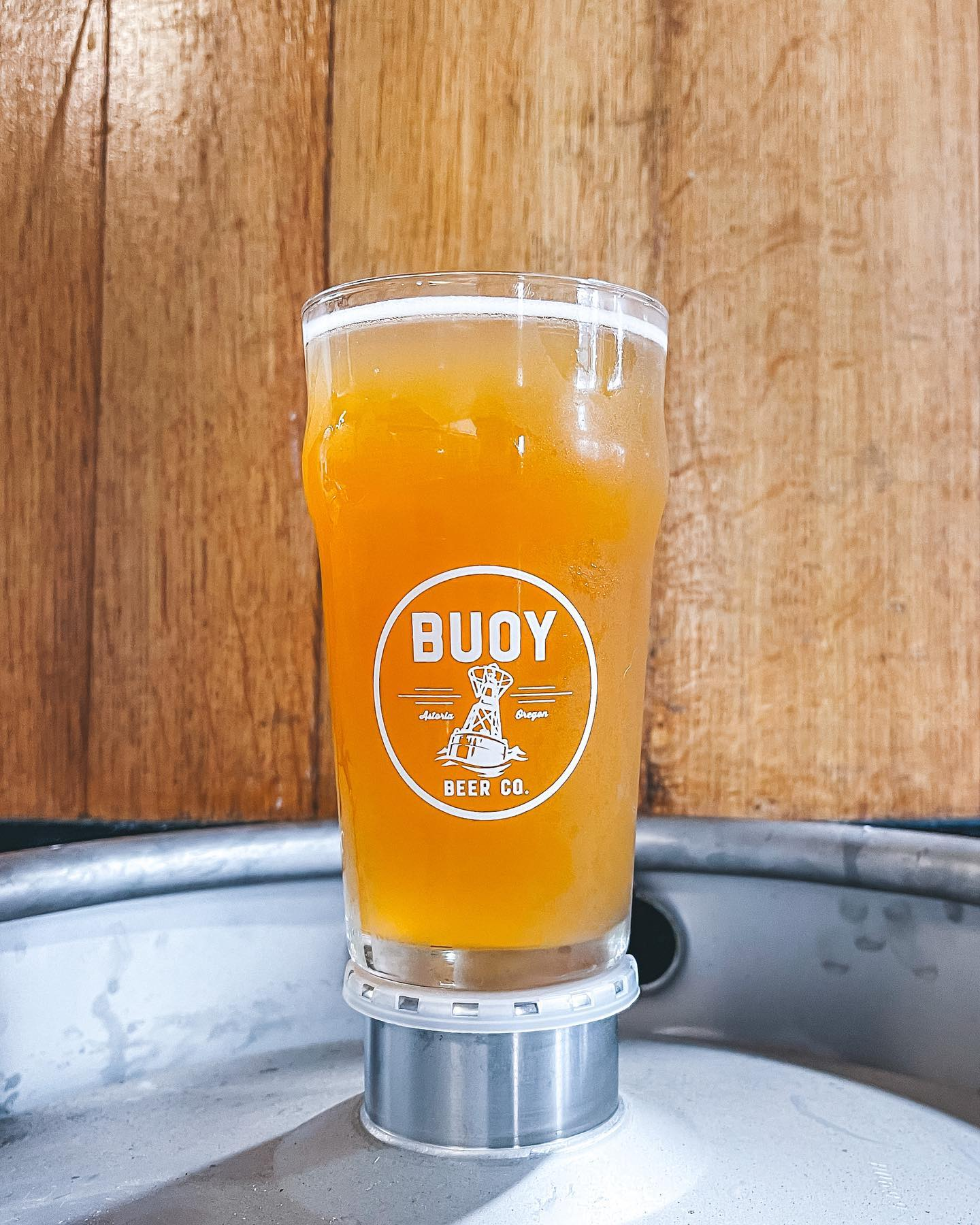 image of Dry-Hopped Brett Saison, fresh from the Foeder courtesy of Buoy Beer