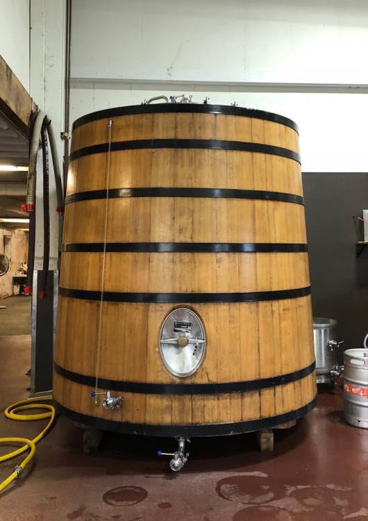 image of the 60-barrel foeder courtesy of Buoy Beer