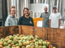 image of the Parrish family courtesy of Portland Cider Co.