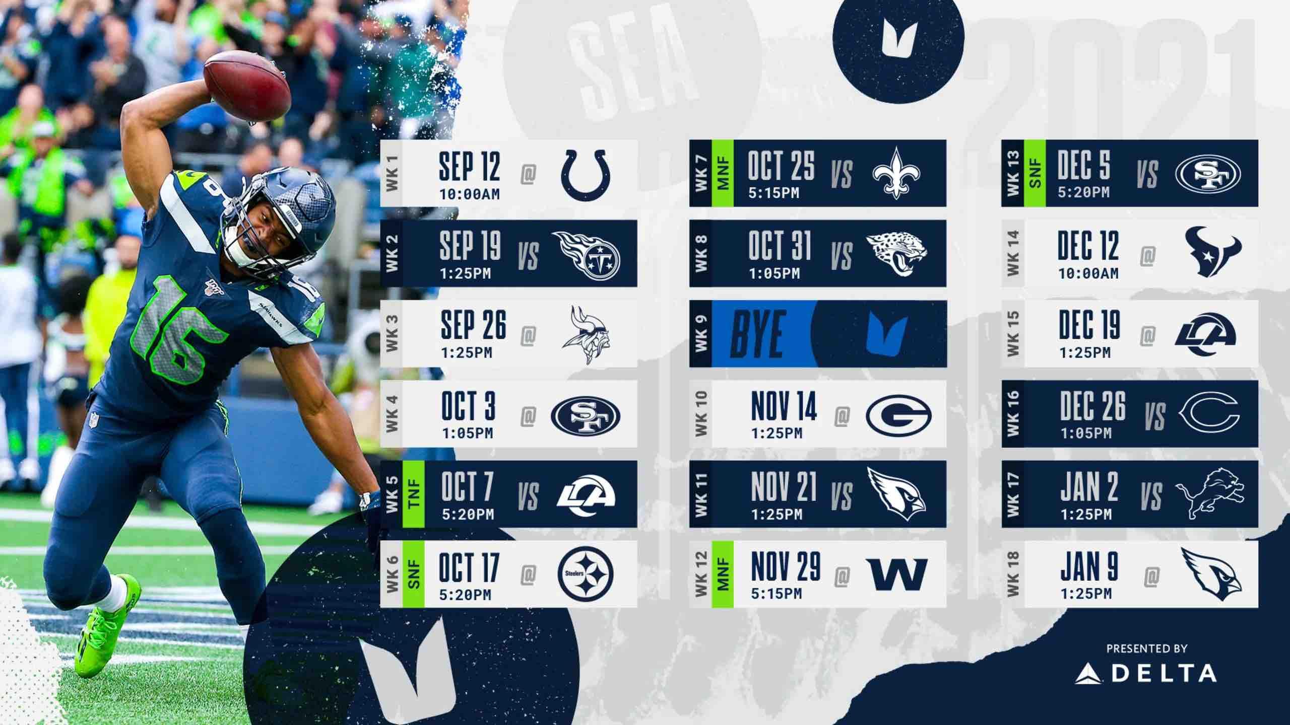 2021-2022 Seattle Seahawks Schedule