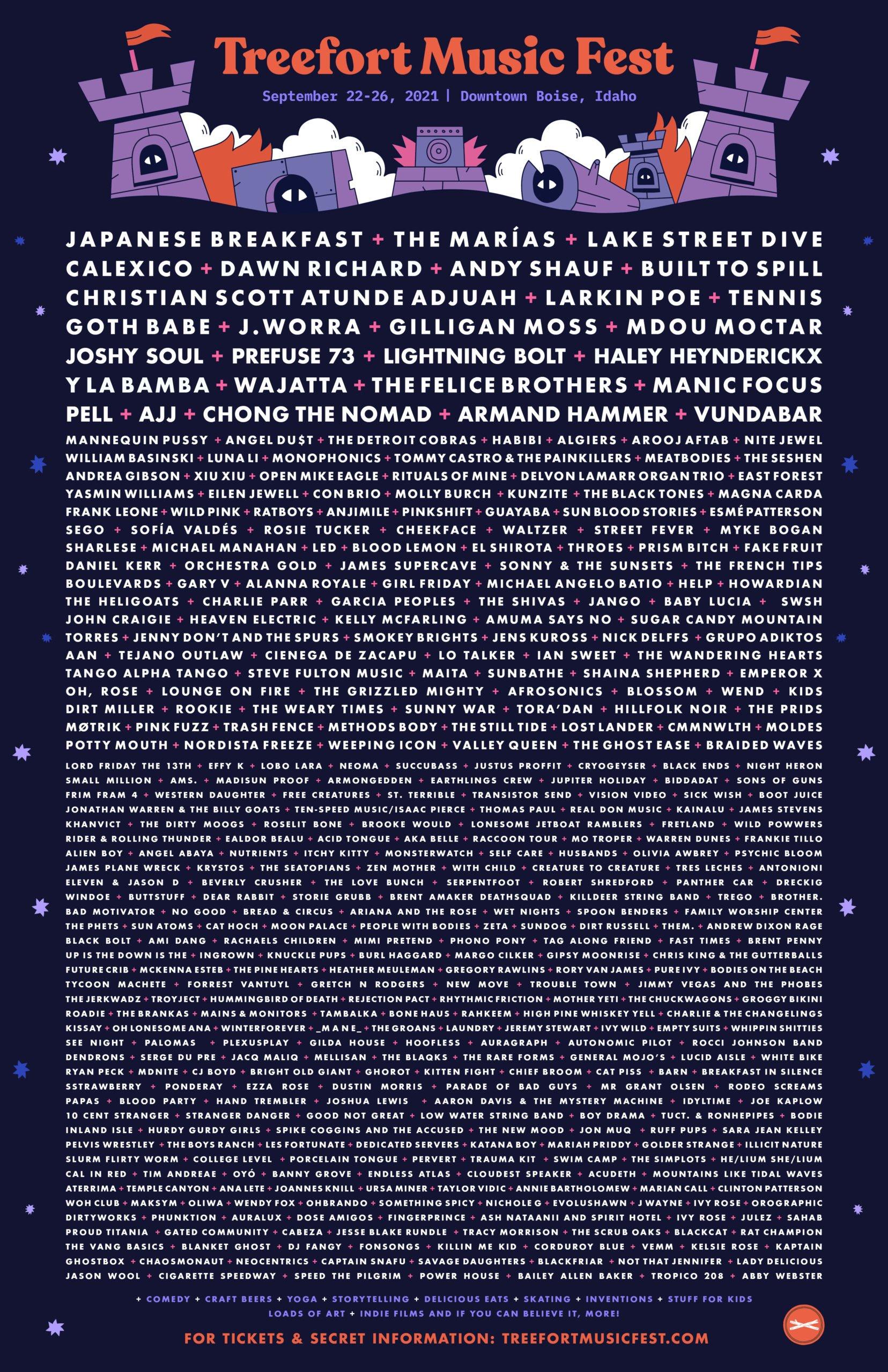 2021 Treefort Music Festival Poster September