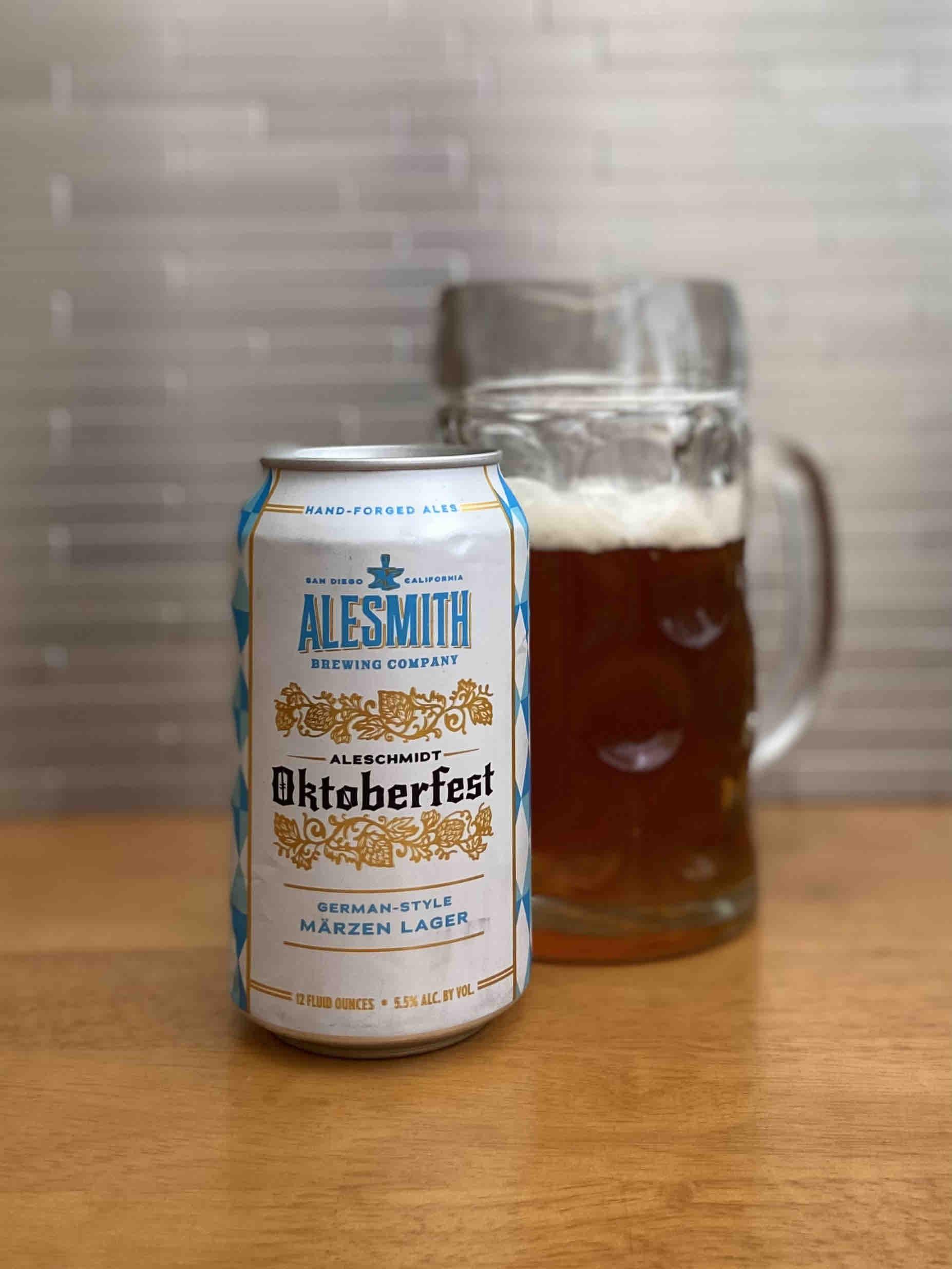 AleSmith Brewing releases AleSchmidt Oktoberfest Märzen in 12oz cans.
